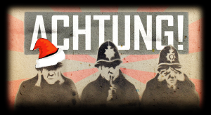 """""""Police Graffiti"""" by Kirsty Hall / CC BY 2.0 / modified effects and """"ACHTUNG!"""" logo http://kirstyhall.co.uk/ [kirstyhall.co.uk]"""